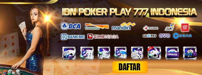 Deposit Poker Play 777